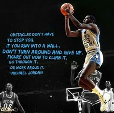 If you hit a wall, whatever you do, don't give up #GOAT