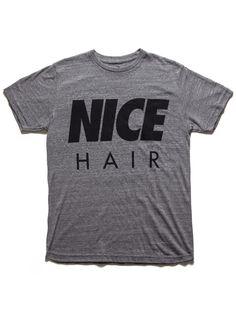 NICE HAIR T-SHIRT - HEATHER GREY/BLACK