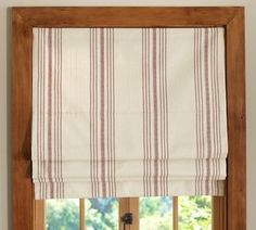 French Stripe Roman Shade - traditional - curtains - by Pottery Barn --- I think this is more what I want for the kitchen.  This doesn't seem to be on PB any longer....
