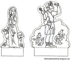 Bible crafts for kids jacob and esau reunite sunday for Jacob and esau reunite coloring page