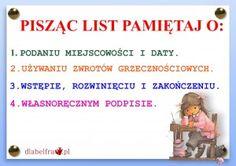 FORMY WYPOWIEDZI PISEMNEJ4 Polish Language, Gernal Knowledge, New Class, Girls World, Study Motivation, Back To School, Homeschool, Classroom, Science
