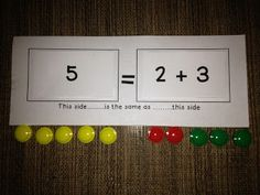 Classroom Freebies: Understanding the Equal Sign - use chocolate eggs