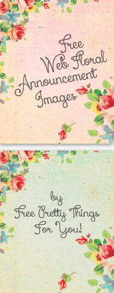 Free Stock Images: Pretty Floral Web Announcements