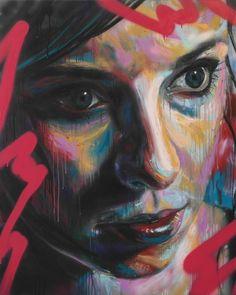 Art Of David Walker (UK) | FLORENTINA - Spray Paint on Canvas 2013