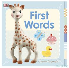 Sophie the Giraffe My First Book - My First Words: great book with good colors. Livia started paying attention to the pages by week 5 or so.