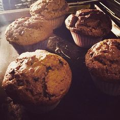 Tomorrow's breakfast fresh out of the oven: Pumpkin Chocolate Chip Muffins from Meal Mentor's The Big Breakfast Book. My house smells like fall 🍃🍁🍂 #wholefoods #plantstrong #plantbased #veganshare #veganfoodporn #vegansofig #veganfoodshare #veganos #veganoslatinos #oilfree #oilfreecooking #oilfreevegan #cleanfood #cleaneats #nooil #nooiladded #nooilcooking #wfpb #plantpure #mealmentor #happyherbivore #lindsaynixon #veganorriqueño #veganrican #veganospr #wfpbno #pumpkinmuffins…
