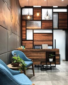 Stylish Office Decor Ideas For Your Workspace - 5 Min Ideas Modern Architecture House, Futuristic Architecture, Modern Houses, Commercial Interior Design, Commercial Interiors, Corporate Office Decor, Corporate Offices, Office Open Plan, Stylish Office