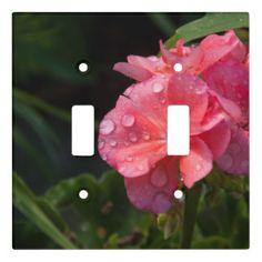 Plaque Interrupteur Plaque interrupteur, fleur rose