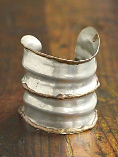 Vintage 1980s Pounded Metal Cuff. FP