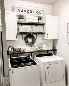 Below are the Farmhouse Laundry Room Storage Decoration Ideas. This post about Farmhouse Laundry Room Storage Decoration Ideas was posted … Tiny Laundry Rooms, Laundry Room Remodel, Laundry Decor, Laundry Room Organization, Laundry Room Design, Organization Ideas, Basement Laundry, Laundry Room Shelving, Laundry Room Small Ideas