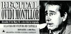 Ovidi Montllor, un dels cantautors més important i que més relació té amb el nostre autor, ja que durà  a terme un gran nombre d'interpretacions basant-se en poemes destacats  de Vicent  Andrés Estellés.