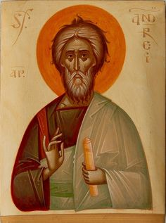 Andrew by Gabriel Toma Chituc Orthodox Icons, Fresco, Gabriel, Saints, Religion, House, Painting, Ideas, Contemporary