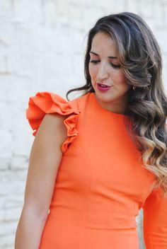 Invitada de naranja. http://www.fashion-south.com/2016/06/invitada-de-naranja.html