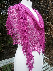 Kits for this shawl are available from Earthfaire.