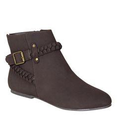 Another great find on #zulily! Brown TikTok Ankle Boot #zulilyfinds