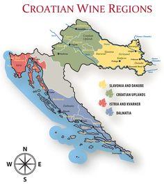 Croatia Wine Regions #wine #wineeducation #croatia