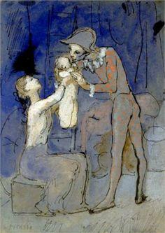 Harlequin's family - Pablo Picasso