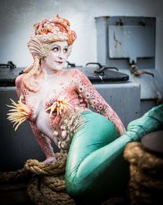 Mess: The Mermaids - London. These incredibly costumed walkabout creatures are perfect for seaside or maritime themed events!