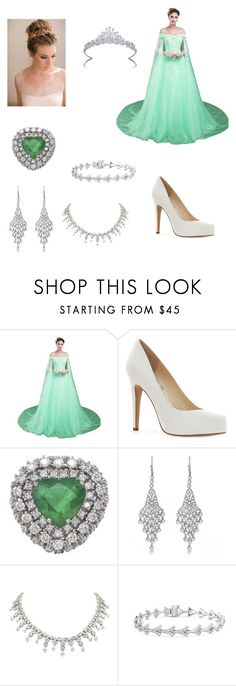 """""""The Selection Series - Queen America"""" by gryfindorprincess on Polyvore featuring Jessica Simpson, Allurez, Monique Lhuillier and Graff"""