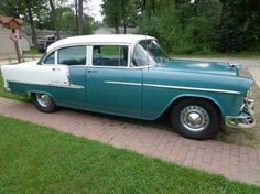 1955 Chevy Bel Air, 1955 Chevrolet, Chevrolet Bel Air, Vintage Auto, Vintage Cars, Chevy For Sale, Chevy Vehicles, 1950s Car, Hot Rods