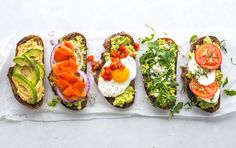 It's hard not to love the creamy texture and abundance of healthy omega fatty acids in an avocado. Perhaps that's why everyone is enjoying the fruit (yes, it's a single-seeded berry) in so many different ways. Try these five riffs on avocado toast, each with no more than 300 calories and five ingredients. 1. SMASHED ...