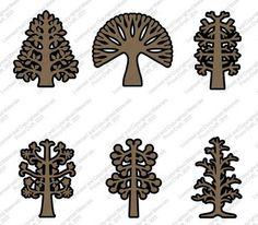 Cricut Free Cut of the Week: 3D Trees Digital Image Set (March 25 - April 1, 2015)
