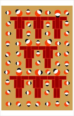 Brats and their Caps. (art print on canvas) Ligia de Medeiros, 2016