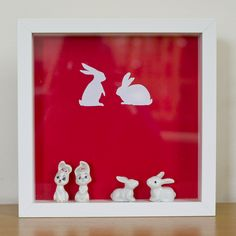 ribba frame + bunnies, love it! Nerd Cave, Ribba Frame, Star Wars Toys, Ikea Hacks, Shadow Box, Vintage Toys, Diorama, Over The Years, Bunnies