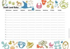 Stadt-Land-Baby Spiel für die Baby Shower http://kingkalli.de/wp-content/uploads/2015/07/StadtLandBaby.pdf