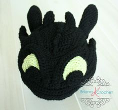 PATTERN Instant Download, 9 Month to Adult Toothless Hat How to Train Your Dragon Briana K Crochet