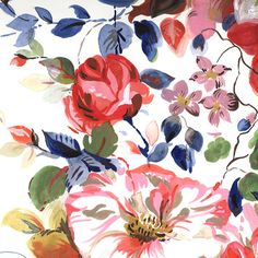 Sarah Papworth, traditional, floral, painting, colour, summer, pattern, print
