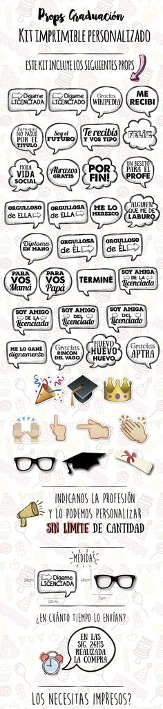 Kit Imprimible Props Cartelitos Graduacion Egresados - $ 230 en Melinterest Ideas Para Fiestas, Senior Prom, Prom Party, Photo Booth, Teaching Resources, Diy And Crafts, Graduation, Birthdays, Kylie