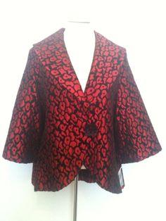 a7aeb144659 NWOT I C By Connie K Women s Jacket H iLo Red Swing USA L  ICbyConnieK   BasicJacket