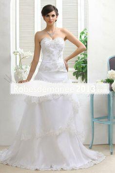robe de bal A-Line Princesse sweetheart chapelle de Maria robe de mariée (WDE0125)