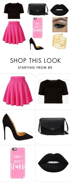 """""""Untitled #94"""" by karenrodriguez-iv on Polyvore featuring Ted Baker, Christian Louboutin, Casetify, Lime Crime, women's clothing, women, female, woman, misses and juniors"""