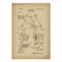 1902 Patent Bicycle Winter velocipede Poster - winter gifts style special unique gift ideas