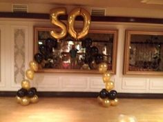 Special 50th #Balloon Arch have a great night  — at The Carraig #Hotel.
