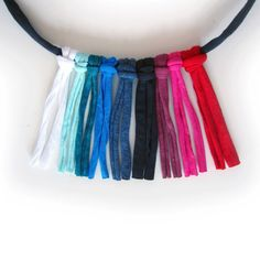 Colors of jersey textile for chokers. Or maybe you would like to have a rainbow choker like this?