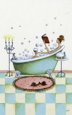 bathing.quenalbertini: Not only bath time..