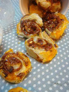Caracóis de marmelo com creme de caramelo e avelãs