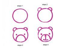 dessiner une tête d'ourson