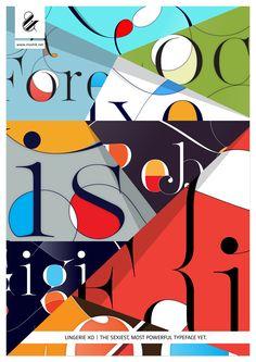 Lingerie XO - The Sexiest, Most Powerful typeface Yet. By Moshik Nadav Typography. www.moshik.net