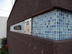 オープンエクステリア施工事例 / エクステリア、シンプルモダン、積水ハウス、モザイクタイル、デザイン門柱