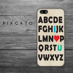 I Love You  Alphabet  Iphone Case Hard Plastic FREE by PiXCATO, $10.99