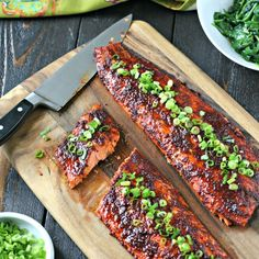 Quick and easy glazed salmon and loaded with Asian flavors.