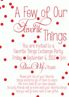 Favorite-Things-Party-Invite #FavoriteThingsParty