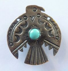 Pin-Sterling-Turquoise-Thunderbird-Fred-Harvey-Era-Vintage