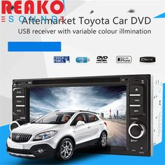 REAKOSOUND Car Video Players 6.5 inch DVD Radio USB MP3 Player For Corolla Camry Kluger Hiace RAV4 Yaris Echo