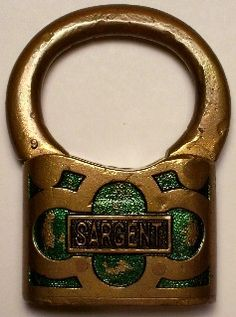 Sargent antique padlock
