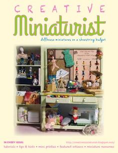 SPRING 2015  Creating Dollhouse Miniatures on a Shoestring Budget